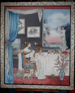 Pintura sobre Jeanne Villepreux-Power, por Anne Lan.