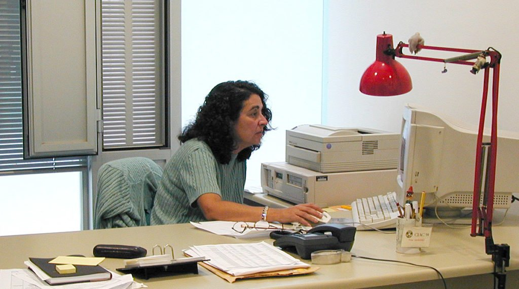 Pilar en su despacho del ICM.